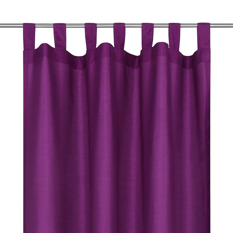 schlaufenschal bergadine gardine vorhang schlaufen dekoschal 140x245cm lila ebay. Black Bedroom Furniture Sets. Home Design Ideas