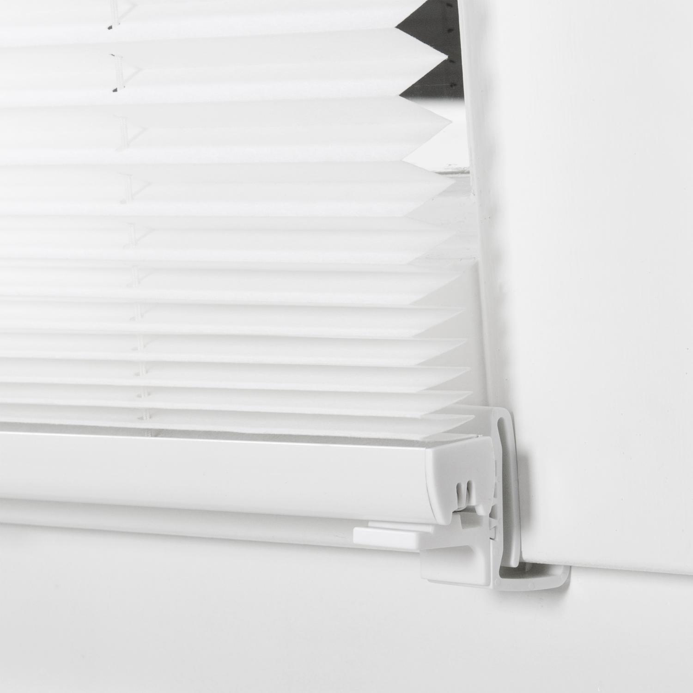 klemmfix plissee 130 220cm fenster t r wei faltrollo rollo mit klemmtr ger ebay. Black Bedroom Furniture Sets. Home Design Ideas