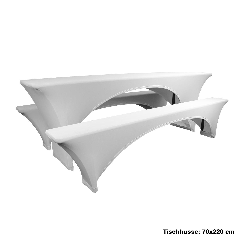 stretch biertischhussen festzeltgarnitur husse bierzeltgarnitur bierbankhussen ebay. Black Bedroom Furniture Sets. Home Design Ideas