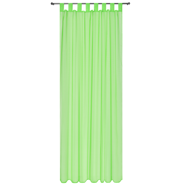 voile gardine 140x245 schlaufenschal transparent dekoschal vorhang durchsichtig ebay. Black Bedroom Furniture Sets. Home Design Ideas