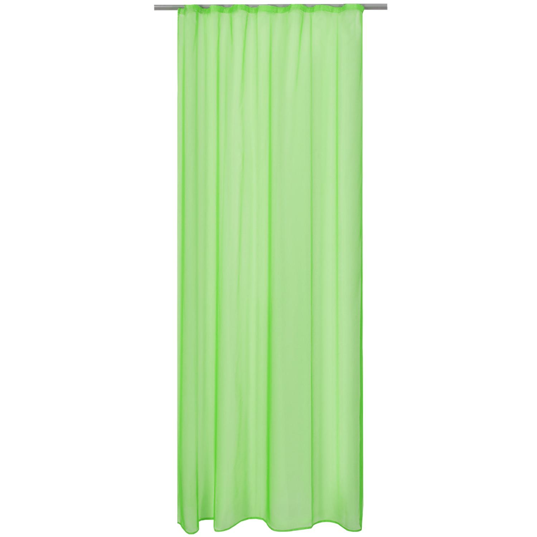 Voile-Gardine-Kraeuselband-140x245-cm-Dekoschal-Vorhang-Transparent-Universalband