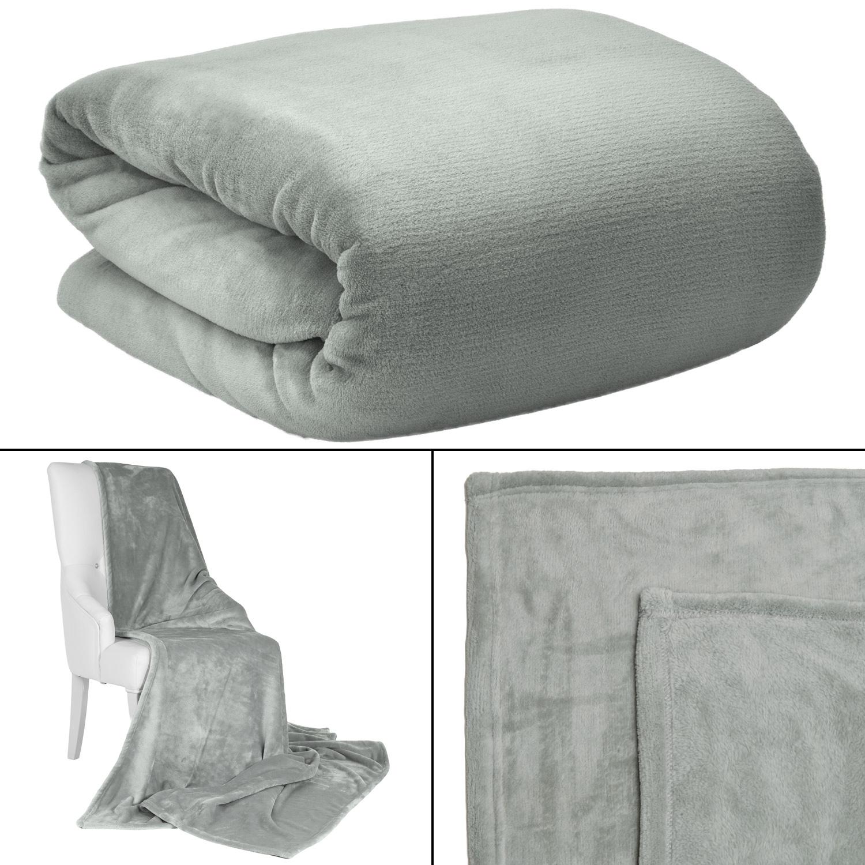 kuscheldecke xxl 150x200 220x240 wohndecke microfaser fleecedecke tagesdecke ebay. Black Bedroom Furniture Sets. Home Design Ideas