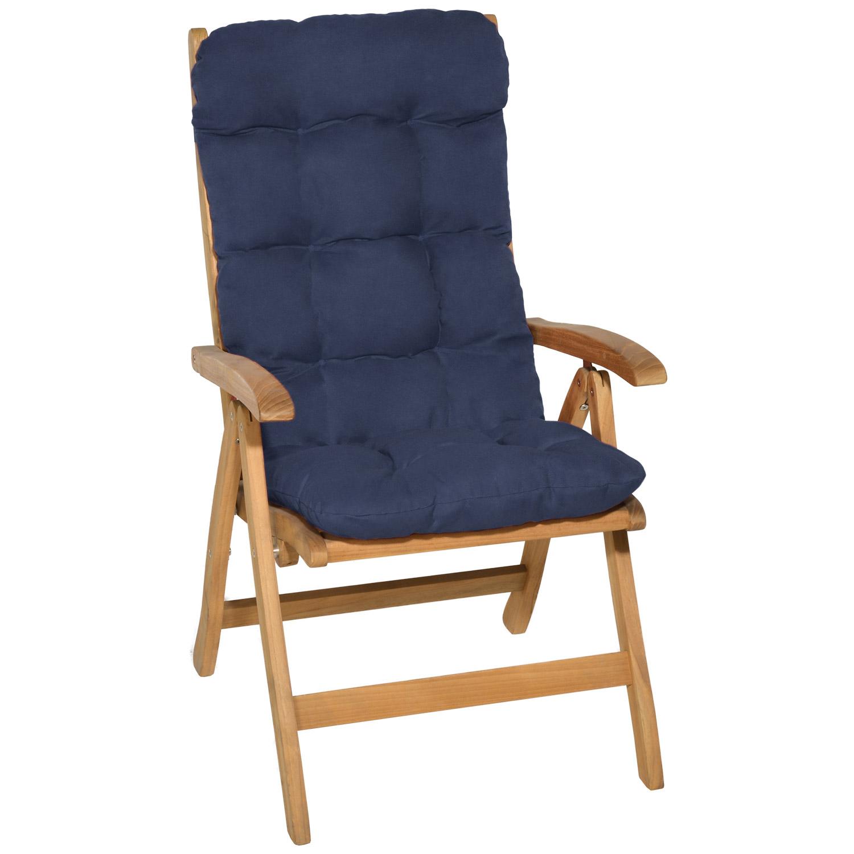 hochlehner auflagen sitzauflagen gartenstuhl sitzkissen polster sessel kissen ebay. Black Bedroom Furniture Sets. Home Design Ideas