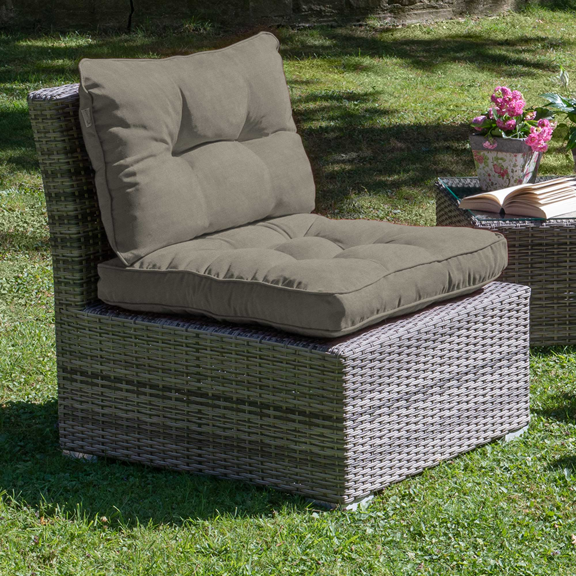 outdoor loungekissen polster auflage r ckenkissen sitzkissen lounge kissen ebay. Black Bedroom Furniture Sets. Home Design Ideas